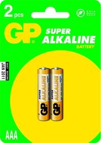 Фото 1/2 24A (A286/LR03/AAA)2, Элемент питания алкалиновый Super (2шт) 1.5В
