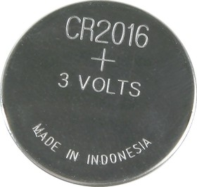 Фото 1/2 CR2016 (DL2016), Элемент питания литиевый (1шт) 3В