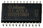 TLE4729G, Двухфазный драйвер управления шаговым электродвигателем, [P-DSO-24]