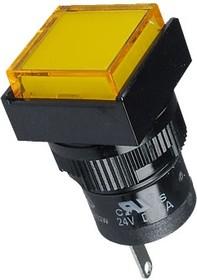 Фото 1/2 D16PLS1-000KY, Индикатор желтый 24В/LED