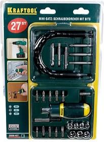 Фото 1/2 25556-H27, Набор Отвертка реверсивная с битами и торцевыми головками, 27 предметов