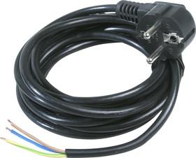 Шнур 10м с вилкой ПВС-ВП 3х0.75мм (черный)