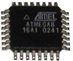 ATmega8-16AU, Микроконтроллер 8-Бит, AVR, 16МГц, 8КБ Flash [TQFP-32]
