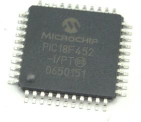 Фото 1/2 PIC18F452-I/PT, Микроконтроллер 8-Бит, PIC, 40МГц, 32КБ (16Кx16) Flash, c 10-Бит АЦП, 34 I/O [PQFP-44]