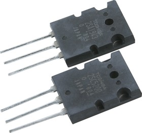 Фото 1/3 2SC5200 + 2SA1943 (ПАРА), Транзисторы NPN/PNP 230В 15А [2-21F1A]