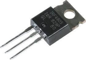 Фото 1/6 IRF4905PBF, Транзистор, P-канал 55В 74А [TO-220AB]