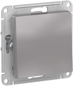 Фото 1/3 Механизм выключателя 1-кл. СП AtlasDesign 10А IP20 (сх. 1) 10AX алюм. SchE ATN000311