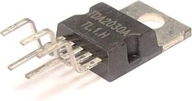 TDA2030AV, Одноканальный HI-FI усилитель мощности класса АВ, 18Вт, ± 22В, 3.5А, 22…22000Гц, [TO220-5]