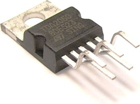 TDA2050V (TDA2050), Одноканальный HI-FI усилитель мощности класса АВ, 32Вт, ± 25В, 4А, 20…80000Гц, 4 Ом, [TO-220-5]
