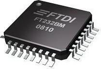 Фото 1/3 FT232BL-REEL, Преобразователь USB - UART [LQFP-32] (FT232BM)