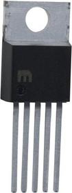Фото 1/7 LM2576T-ADJG, Импульсный понижающий регулятор напряжения с регулировкой выхода 1.23В…37В, 3А, [TO-220-5]