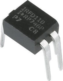 Фото 1/3 IRFD110PBF, Транзистор, N-канал 100В 1А [HD1]