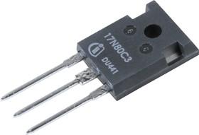 Фото 1/3 SPW17N80C3, Транзистор, N-канал 800В 11А 290мОм [TO-247]