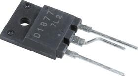2SD1877, Мощный высоковольтный NPN транзистор с демпферным диодом, управление горизонтальной (строчной) разве