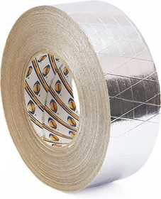 Скотч алюминиевый армированный 50мм*50м.