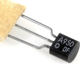 2SA950, Транзистор PNP 30В 0.8A 0.6Вт 120МГц [TO-92]