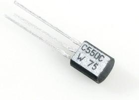 BC550C, Транзистор NPN 45В 0.1А 0.5Вт [TO-92]
