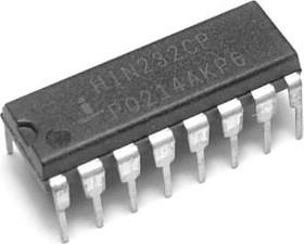 HIN232CPZ, Приемопередатчик интерфейса RS-232 (MAX232CPE)