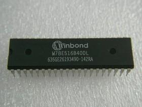 W78E516B-40DL, Микроконтроллер 8-Бит, 8052, 40МГц, 64КБ (64Кx8) Flash, 32 I/O [DIP-40]