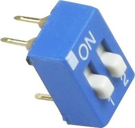 Фото 1/3 SWD1-2 (ВДМ1-2), Переключатель DIP, 2 контактных групп (OBSOLETE)