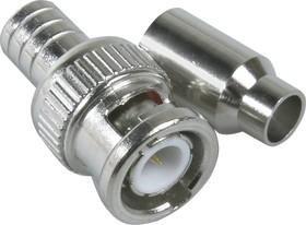 HYR-0114A (GB-114A) (BNC-7002), Разъем BNC, штекер, RG-58, QUICK обжим (Crimp)