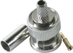 HYR-0105A (GB-105A) (BNC-7001A) (BNC-C58P), Разъем BNC, штекер, RG-58, обжим (Crimp)