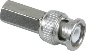 HYR-0107B (GB-107B) (BNC-7012B) (BNC-U59P), Разъем BNC, штекер, RG-59, вкручивающийся (Twist-on)