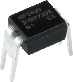 Фото 1/2 IRFD420PBF, Транзистор, N-канал 500В 0.46А [HD1]