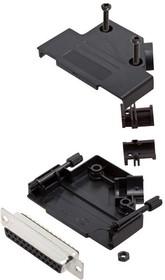 L17D45PK-P-25+L77SDB25S, Разъем D Sub, With Backshell, DB25, Standard, Гнездо, D45PK-P Series, 25 контакт(-ов), DB, Пайка