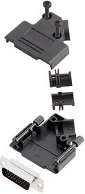 L17D45PK-P-15+L717HDA26P, Разъем D Sub, With Backshell, HD26, High Density, Штекер, D45PK-P Series, 26 контакт(-ов), DA