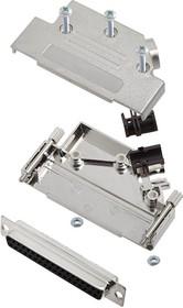 L17D45PK-M-37+L77SDC37S, Разъем D Sub, With Backshell, DB37, Standard, Гнездо, D45PK-M Series, 37 контакт(-ов), DC, Пайка