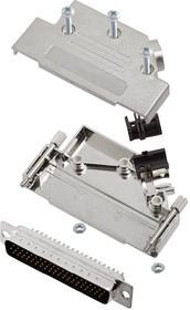 L17D45PK-M-37+L717HDC62P, Разъем D Sub, With Backshell, HD62, High Density, Штекер, D45PK-M Series, 62 контакт(-ов), DC