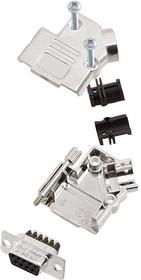L17D45PK-M-15+L77DA15SST, Разъем D Sub, W/ Backshell, Standard, Гнездо, D45PK-M Series, 15 контакт(-ов), DA, Винт