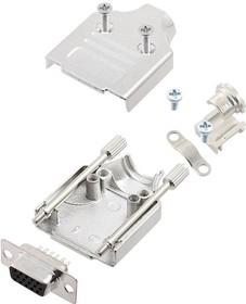 L17MHDM09+L77HDE15S, Разъем D Sub, HD, W/ Backshell, High Density, Гнездо, MHDM Series, 15 контакт(-ов), DE, Solder Cup