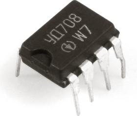 Фото 1/2 КР140УД708 (07-14г), Операционный усилитель средней точности с внутренней коррекцией