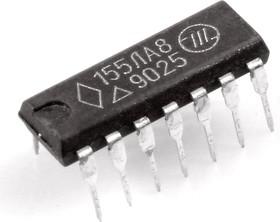 """К155ЛА8 (88-02г), 4 логических элемента """"2И-HЕ""""с открытыми коллекторными выходами (элементы контроля) (SN7401N)"""