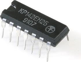 КР142ЕН2Б (90-97г), Регулируемый линейный стабилизатор напряжения 12...30В, 0.15А [DIP-14] (UA723C)