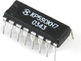 КР590КН7 (00-03г), Четырехканальный аналоговый ключ со схемой управления