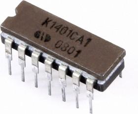 Фото 1/2 К1401СА1 (92-08г), Маломощный квадрантный компаратор напряжения (LM339)