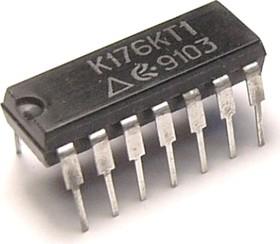 К176КТ1, Четыре аналоговых ключа, 4-х канальный аналоговый мультиплексор