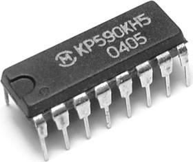 Фото 1/2 КР590КН5, 4-х канальный аналоговый ключ со схемой управления для коммутации напряжений от -15В до 15В (однопол