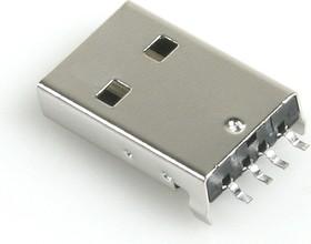 USB-ASM (DS1098-B), Вилка угловая SMD на плату, тип А