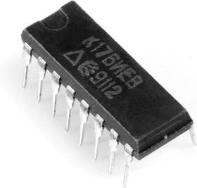 Фото 1/2 К176ИЕ8 (90-97г), Десятичный счетчик с дешифратором (CD4017E)