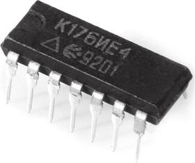 Фото 1/2 К176ИЕ4 (90-97г), Счетчик с дешифратором для вывода информации на семисегментный индикатор (CD4026E)