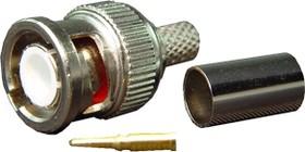 GB-105I, Разъем BNC, штекер, RG-316, обжим (BNC-7001I) (BNC-C316P)(BNC-J3Y)