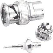 HYR-0110B (GB-110B) (BNC-7008B), Разъем BNC, штекер, RG-59, зажим (Taper grip)