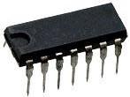 К176ЛП1, Логический элемент универсальный - 9 интегральных элементов (6 МОП транзисторов и 3 диода) (CD4007E)