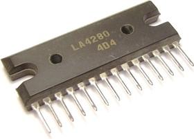 LA4280, Двухканальный усилитель мощности для домашних аудиосистем и ТВ, 2 х 10Вт, 58дБ, 10В…40В, 8 Ом