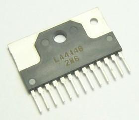 LA4446, Двухканальный аудиоусилитель, 2 х 5.5Вт, 10В…16В, 4 Ом