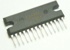 LA4451, Двухканальный усилитель НЧ для бытовой электроники, 26.4В, 12Вт/20Вт, 8 Ом/4 Ом